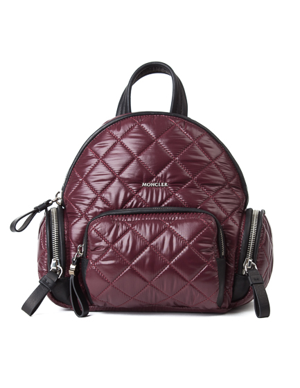 Moncler Florine Ladies Down Quilted Nylon Backpack Burgundy