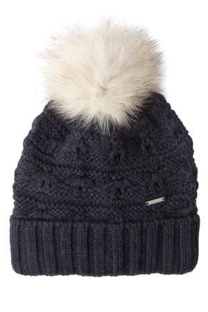 Woolrich Serenity Ladies Wool Beanie Hat Grey
