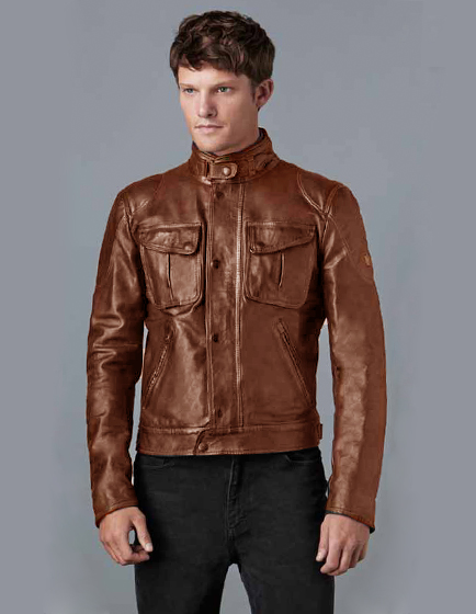 Matchless Silverstone Men's Biker Blouson Jacket Cuero