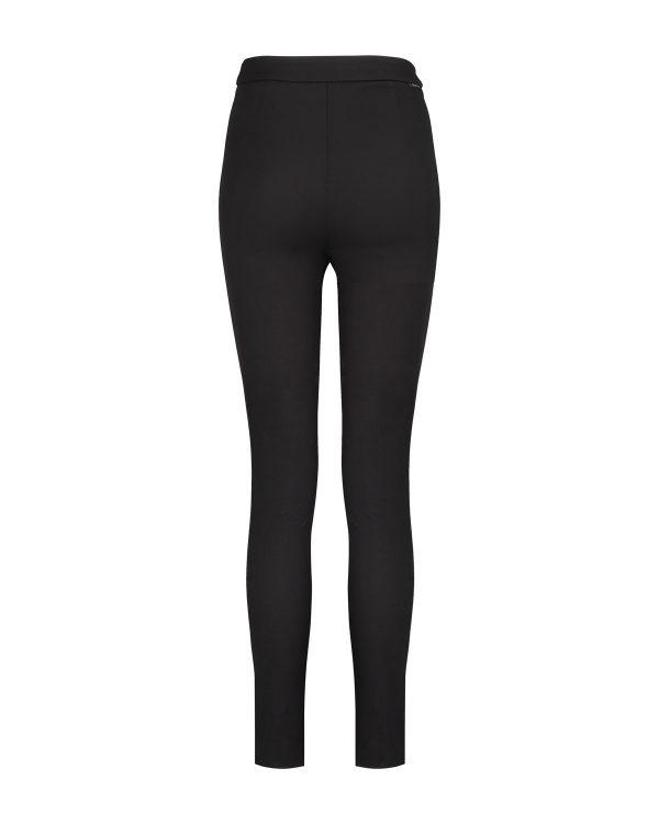 c993880bf2f72 Moncler Women's High-rise Stretch-Gabardine Leggings Black | Linea ...