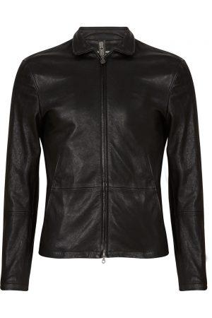 Matchless Craig Men's Leather Biker Blouson Black FRONT
