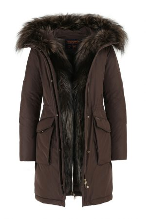Woolrich Women's Military Down Parka Fox Brown
