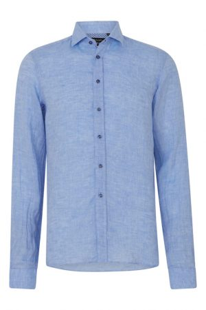 Sand Men's Classic Linen Shirt Light Blue