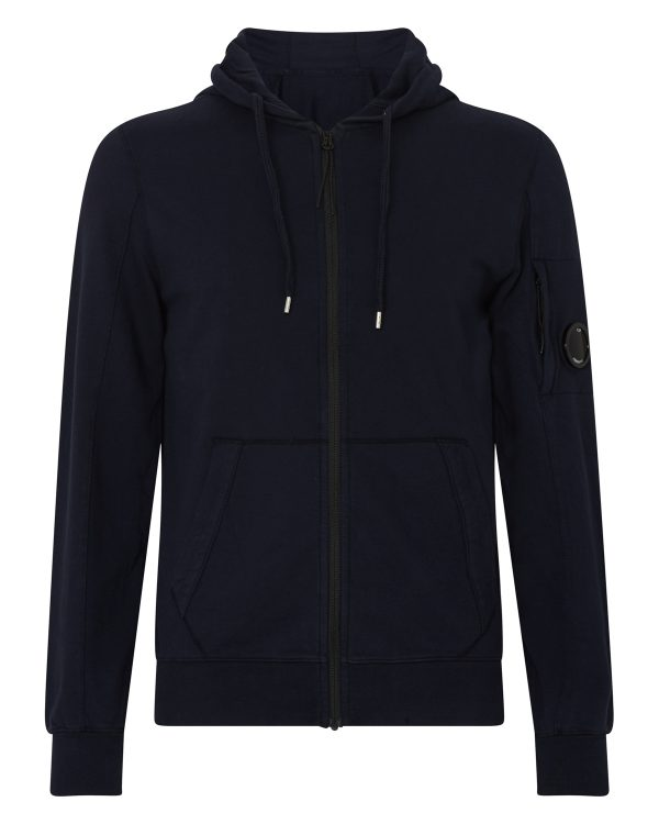 C.P. Company Men's Cotton Hoodie Navy FRONT