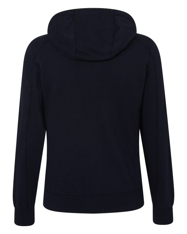C.P. Company Men's Cotton Hoodie Navy BACK