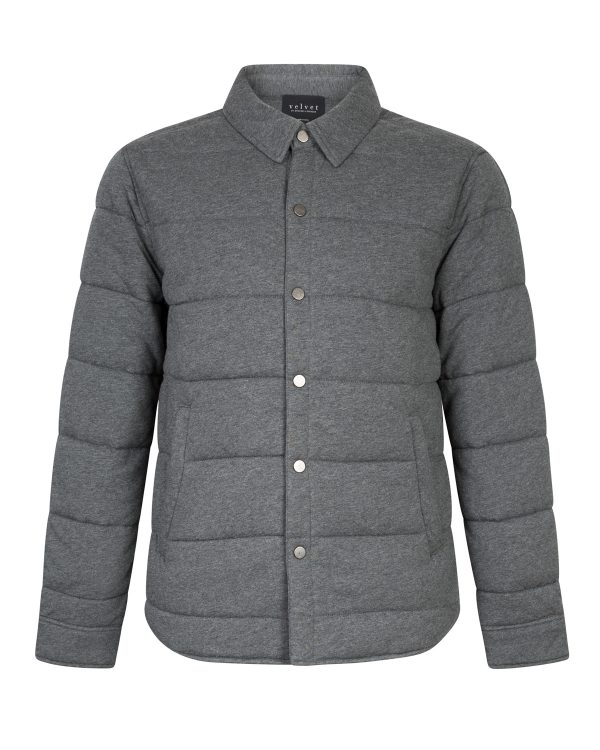 Velvet Men's Quilted Down Jacket Grey