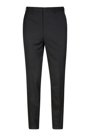 Pal Zileri Men's Tapered Suit Trousers Black
