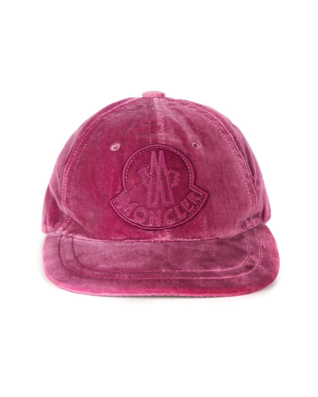 dcd6638257d Moncler Women s Velvet Baseball Cap Mauve Pink