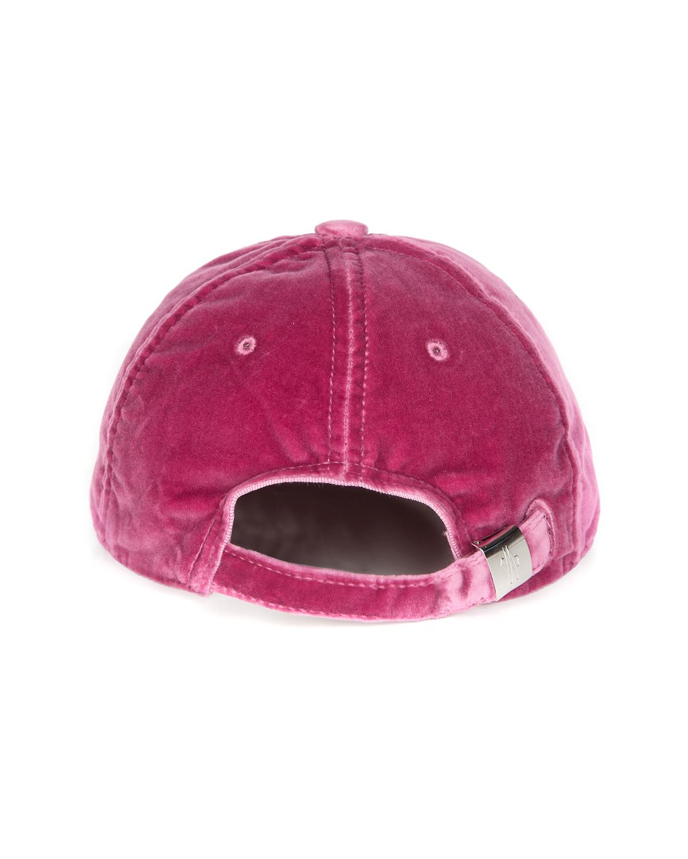 06cee85b089 Moncler Women s Velvet Baseball Cap Mauve Pink