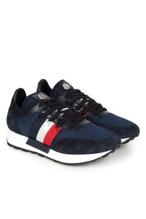 Moncler Men's New Horace Trainers Blue