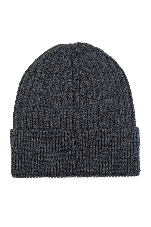 b7b01c0b311 Moncler Grenoble Men s Ribbed Beanie Hat Grey