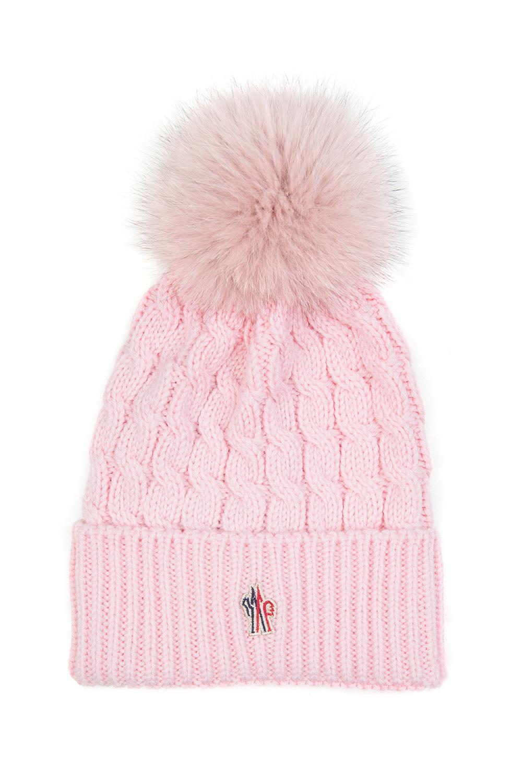 ea33309ae70 Moncler Grenoble Women s Pom-Pom Beanie Hat Pink