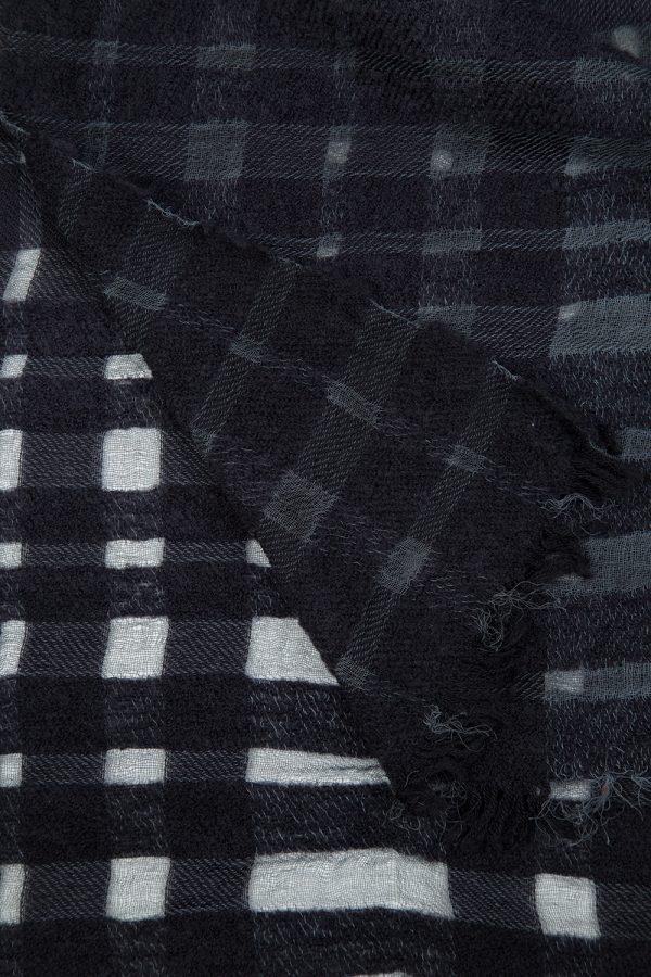 John Varvatos Men's Check Tartan Scarf Grey