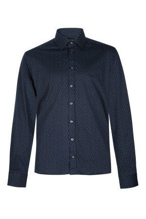 Sand Men's Printed Cotton Shirt Blue
