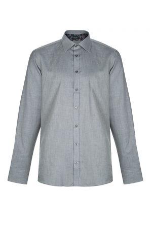 Sand Men's Herringbone Cotton Shirt Grey