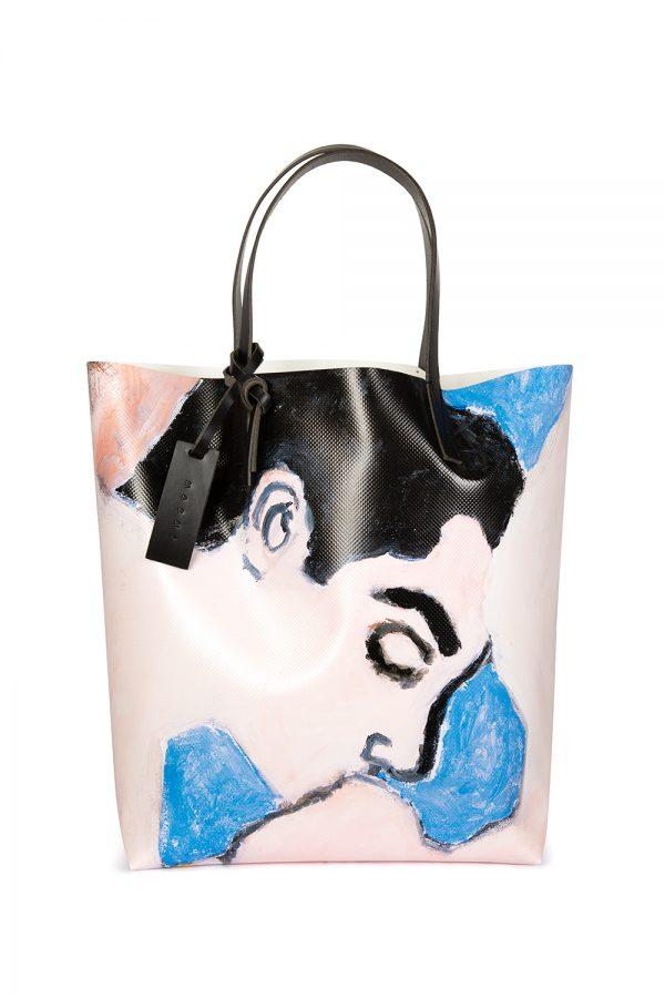 Marni Men's Betsy Podlach Print Tote Bag Pink