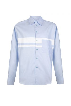 Marni Men's Colour Block Shirt Light Blue