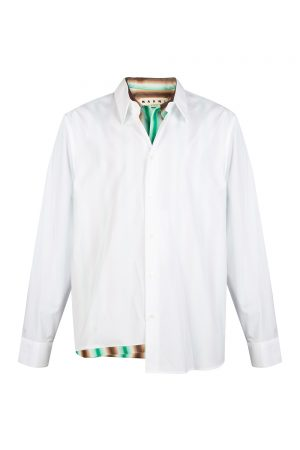 Marni Men's Double Layer Shirt White