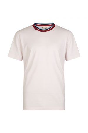 Marni Men's Striped collar T-shirt Pink