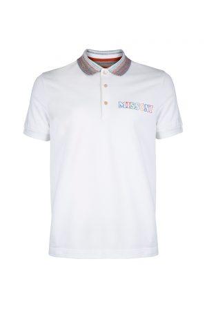 Missoni Men's Logo Print Polo Shirt White