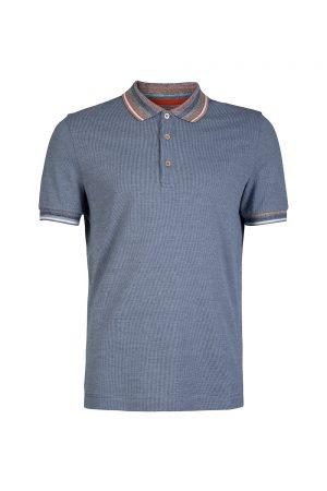 Missoni Men's Micro Plaid Polo Shirt Grey