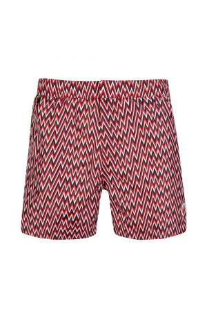 Missoni Men's 3-tone Zig Zag Swim Shorts Red
