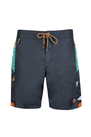 Missoni Mare Men's Side Patchwork Swim Shorts Navy