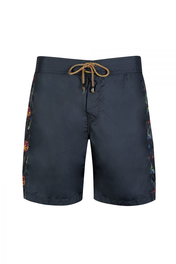 Missoni Men's Contrast Side Panel Swim Shorts Navy