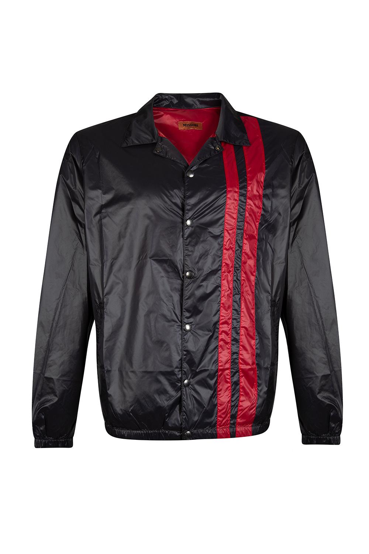 206f7a918fef Missoni Men s Satin Nylon Racer Jacket Black