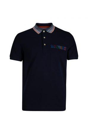 Missoni Men's Logo Print Polo Shirt Navy