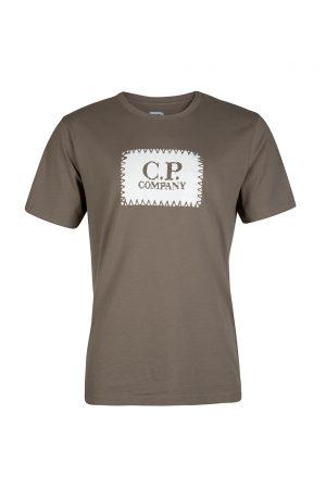 C.P. Company Logo Motif T-shirt Khaki
