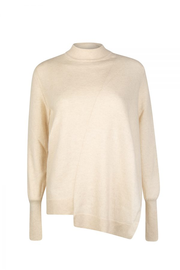 Belstaff Swanston Women's Asymmetric Sweater Cream