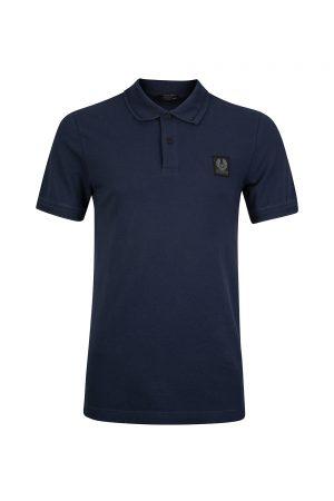 Belstaff Stannet Men's Logo Patch Polo Shirt Navy