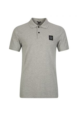 Belstaff Stannet Men's Cotton Piqué Polo Shirt Grey