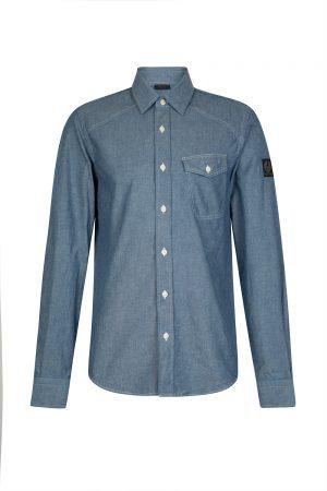 Belstaff Steadway Men's Denim Shirt Blue