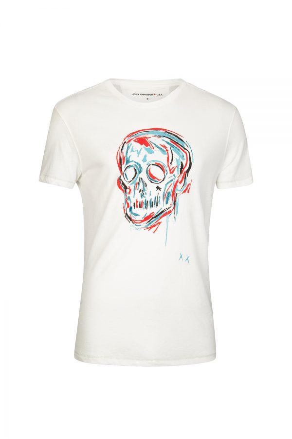 John Varvatos Men's Skull T-shirt White