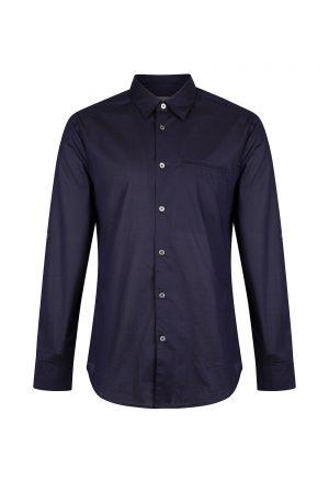 John Varvatos Men's Button Front Shirt Navy