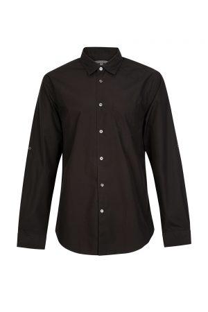 John Varvatos Men's Button Down Shirt Black
