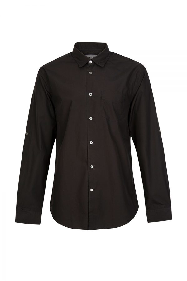 John Varvatos Men's Button Down Shirt Black