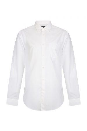John Varvatos Men's Long-sleeved Cotton Shirt White