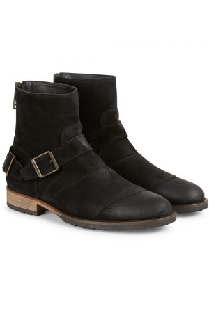 Belstaff Men's Trialmaster Short Suede Biker Boots Black