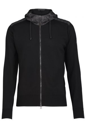 Belstaff Men's Adlington Wool Zip Up Cardigan Black