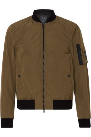 Belstaff Mallison Men's Micro Poly Bomber Jacket Green FRONT