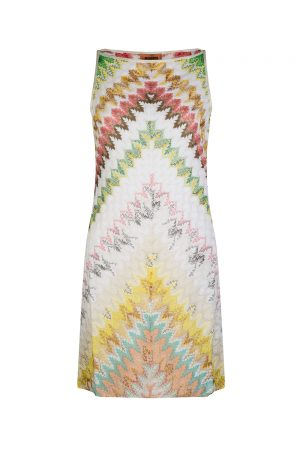 Missoni Women's Chevron Patterned Mini Dress White