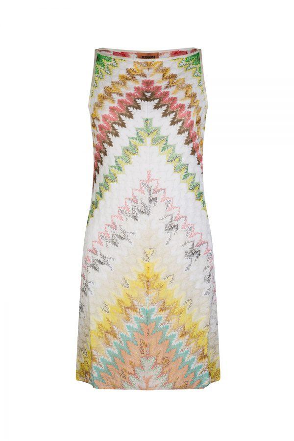 Missoni Women's Chevron Patterned Mini Dress White