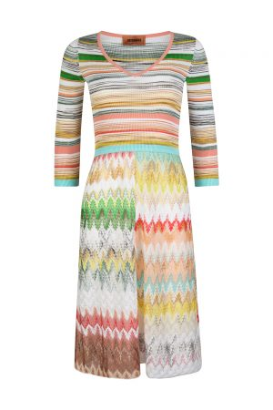 Missoni Women's Combo Patterned Dress Multicoloured