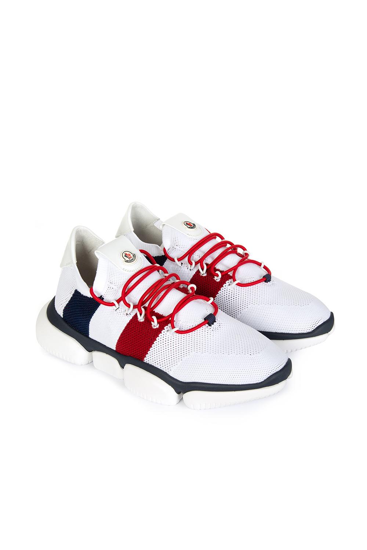 8ce8b153496 Moncler Bubble Men's Mesh Sneakers White | Linea Fashion