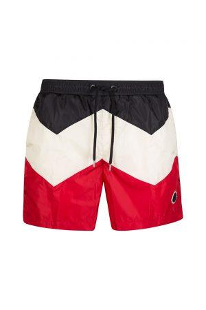 Moncler Men's Tri-colour Swim Shorts White