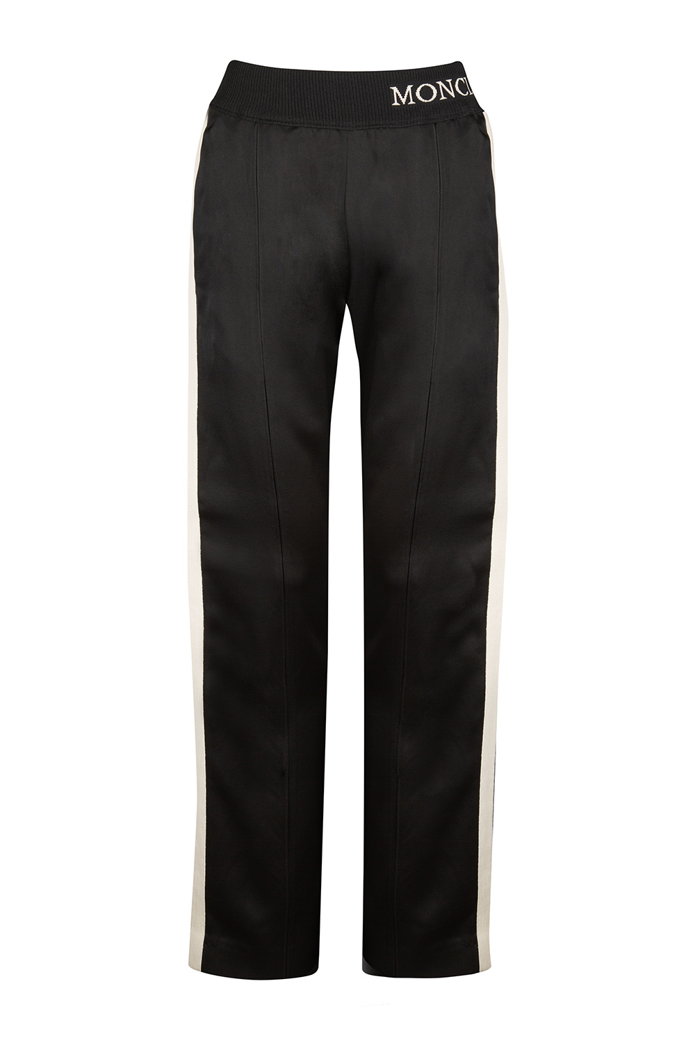 03ba0e36ef56e5 Moncler Women's Side Stripe Track Pants Black | Linea Fashion Linea ...