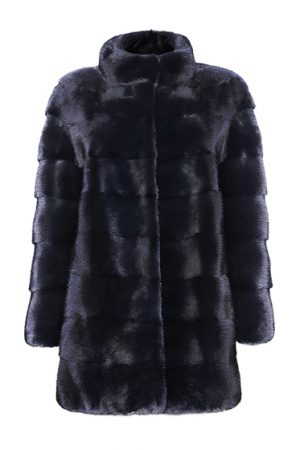 Mila Furs Mila Ladies Midi Mink Fur Coat Black